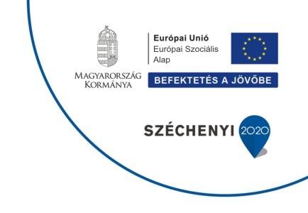 Készült az Európai Unió és az Európai Szociális Alap társfinanszírozásával. Magyarország Kormánya. Befektetés a Jövőbe. Széchenyi 2020